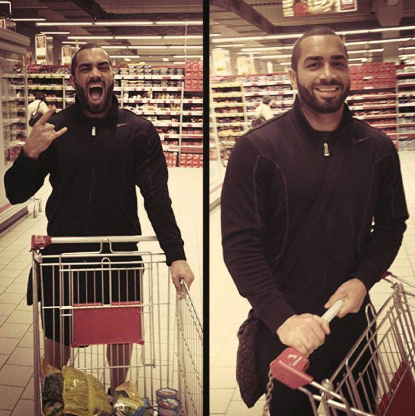 Lazar Angelov actually can smile