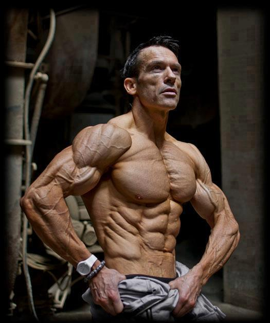 Upper body shreded low body fat