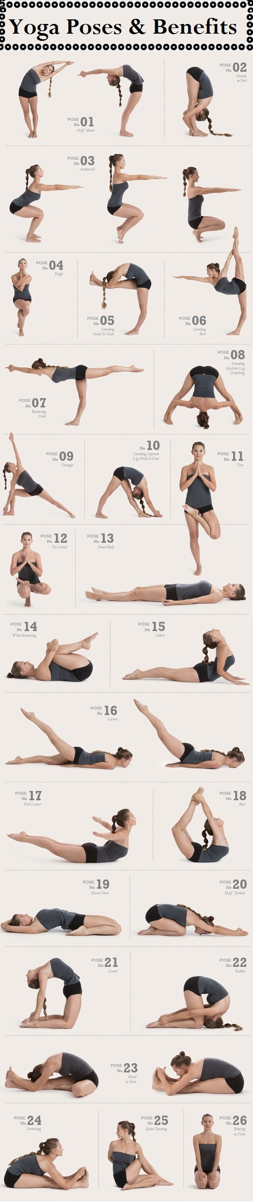 Hot Yoga Posture Sequence with benefits