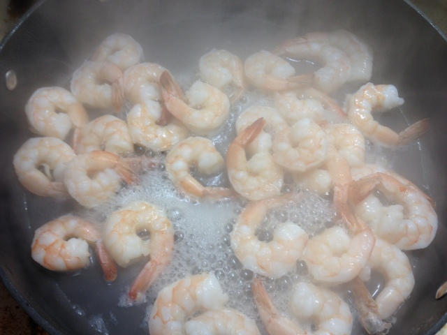 IMG_3158 Raw Shrimp Cook 20140204a Yum